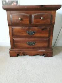 Night Stand brown wooden 3-drawer chest Tampa, 33647