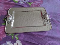 Beatriz Ball serving platters, Metallic Silver Spring, 20910