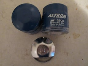 OIL FILTER WRENCH AND TWO (2) NEW OIL FILTERS