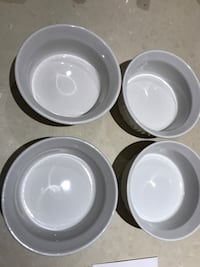 Bowls are made by CorningWare Toronto, M8Y 1N7