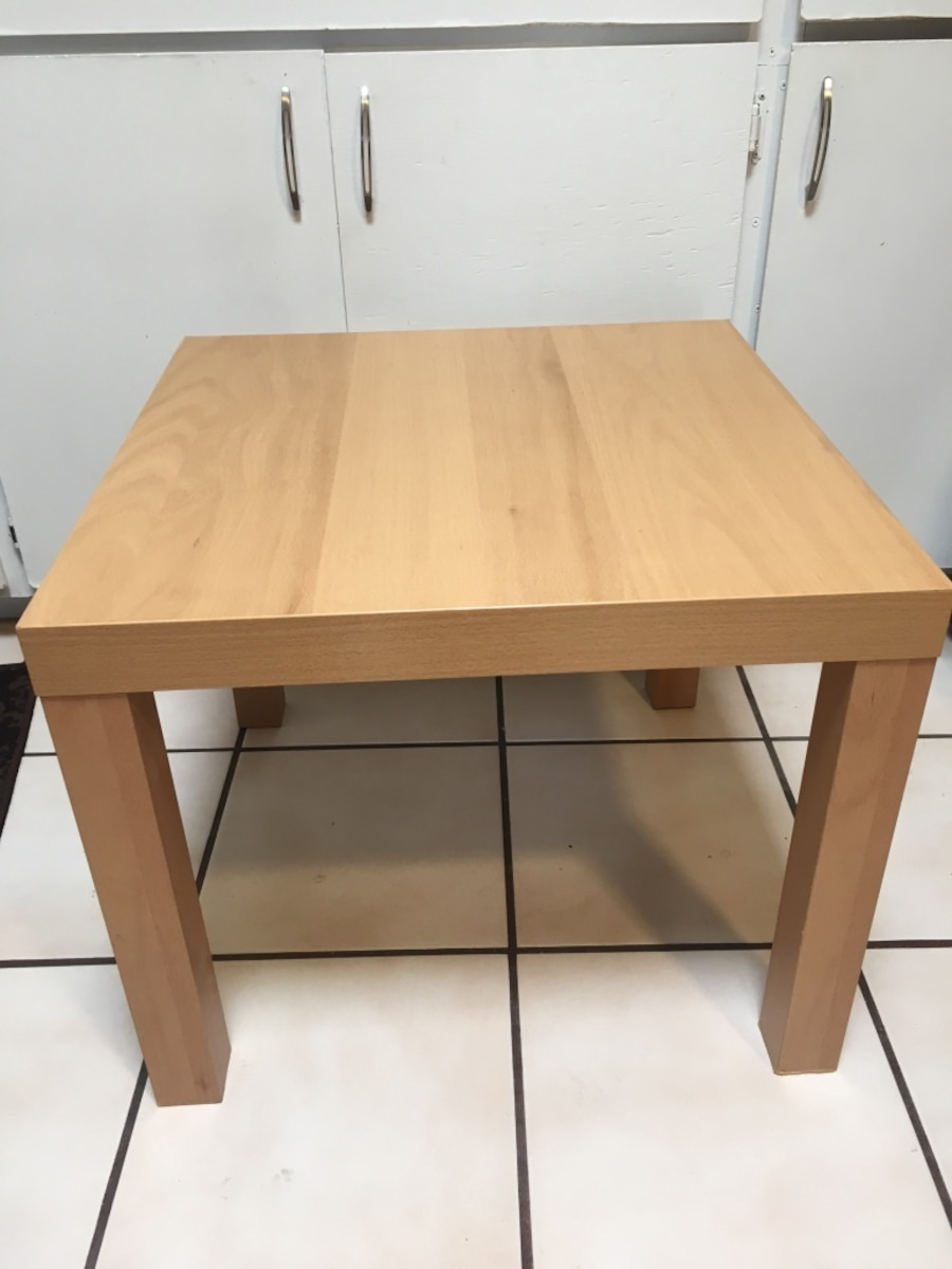Used brown wooden side table ikea in tucson for Ikea outdoor side table