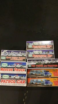 Hess and Sunoco toy collectors trucks