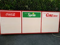 Coca Cola sign, working condition size24inches by4 Montreal, H3G