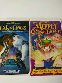 Cats and Dogs and Muppet Classic Theater vhs tapes Baltimore