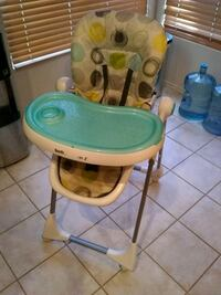 High Chair - Removable Tray, Wheels with Locking Option