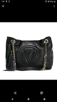 black leather 2-way bag Canmore, T1W 1J8