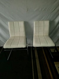 two white leather padded chairs Santa Ana, 92701