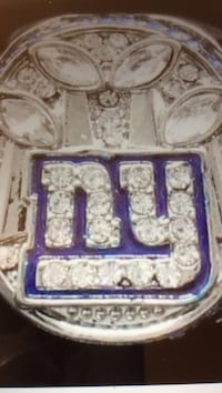 silver-colored New York Giants championship ring 368 mi