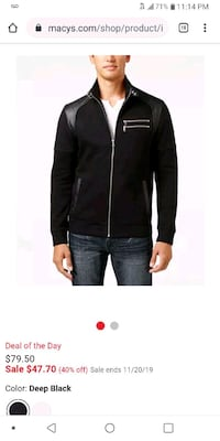 Inc International Concepts jacket black 2X
