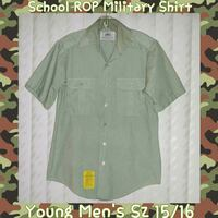 YOUNG MENS SCHOOL ROP MILITARY SHIRT SIZE 15/16