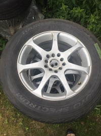 gray 5-spoke car wheel with tire Toronto, M1E 3G4