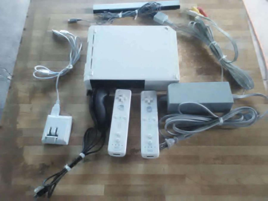 Nintendo Wii console and controllers