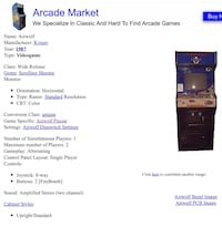 Full sized airwolf arcade game(working condition)