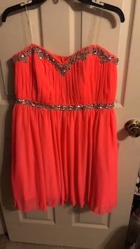 Women's red and black dress Elsmere, 41018