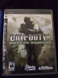 PS3 CALL OF DUTY 4  Gatineau, J9H 6T9