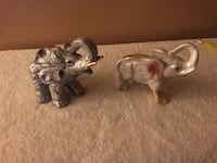 """Two ceramic Elephants ...approx 5"""" tall at high point Surrey, V3V 7L9"""