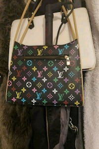 green and brown Louis Vuitton Monogram leather tote bag 3744 km