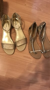 Two pair of grey leather flats Edmonton, T5Y