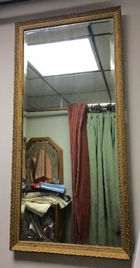 Large Vintage Beveled Mirror Ballston Spa