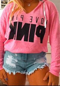 """Pink"" Brand Oversized Light-Weight Hoodie, Size XS"