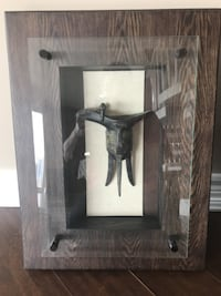 """""""Horse on Earth"""" and """"Wine Cup"""" Framed Bronze Statues Edmonton"""