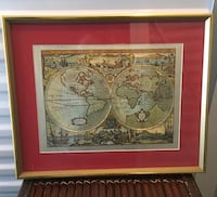 Unique World Map Picture with Frame 2233 mi