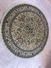 Round black and white floral area rug Union Beach, 07735