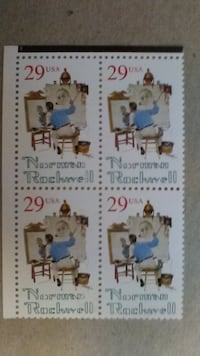 Norman Rockwell 29 Cent 1994 Four Stamp Sheet PURCELLVILLE