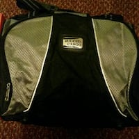 black and green Rugged Cargo bag