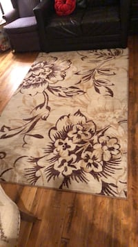 white and brown floral area rug Pittsburgh, 15222