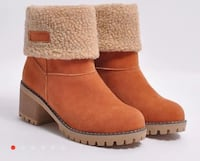pair of brown suede boots Toronto, M9W 3V4