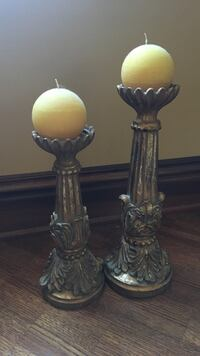 Gold detail candle holders  Laval, H7G 5M2