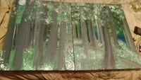 green and white abstract painting McMinnville, 97128