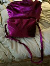Brand New 2 piece Raspberry Velvet Shoulder Bag Bloomsburg, 17815