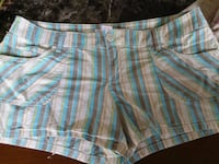 white and blue plaid shorts Erie, 16504