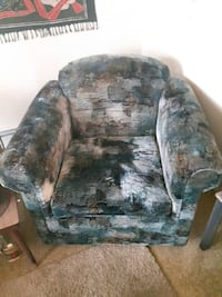 brown and green floral fabric sofa chair Fort McMurray, T9K 0V4