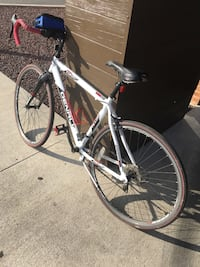 white and black hardtail mountain bike