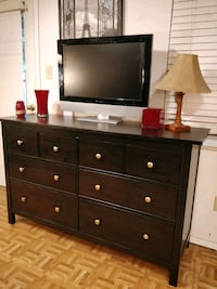 Nice black wooden big dresser with 8 deep drawers in good condition, a Annandale, 22003