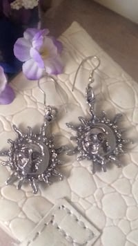 Sun/Moon Earrings  Edmonton, T6E 3C2