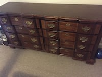 Dresser with 8 drawers $80 night stand $30 Silver Spring, 20905