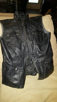 Kenneth Cole Womens Leather Vest