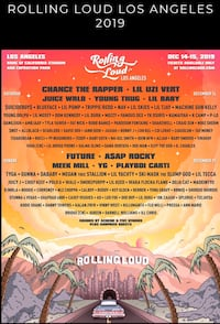 One Rolling Loud L.A 2019 2 Days ticket