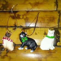 ($10 FIRM)  {3}~ AWESOME LITTLE CAT ORNAMENTS West Fargo