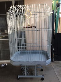 white and blue metal birdcage Covina, 91724