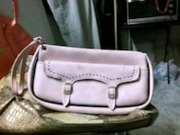 women's pink leather shoulder bag 1410 mi