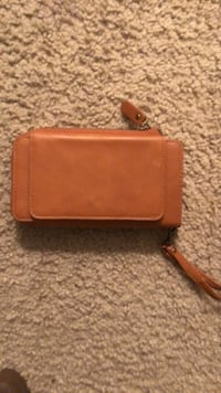 brown leather long wallet with tassel 51 km