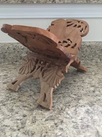 Vintage Indian wooden lion book stand Oklahoma City, 73145