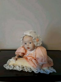 white and brown dressed porcelain doll Pickering, L1W 1T6