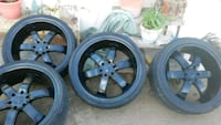 24 in 6 lug Black Rims Tucson, 85719