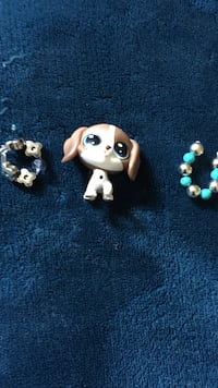 Brown and white littlest pet shop dog toy Caledon, L7K